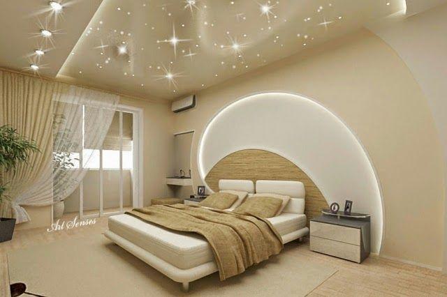 POP False Ceiling Designs For Bedroom With LED Lights Pop Designs