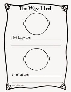 Feelings Worksheet and Mini-Book for Pre-K to 1