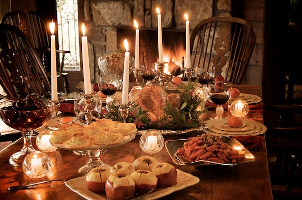 dickens christmas recipes from nephew fred duchess potatoes baked apples stuffed with dried fruit and pecans