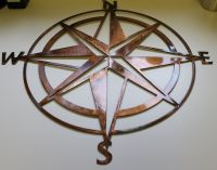 Nautical Compass Rose Wall Art Metal Decor by ...