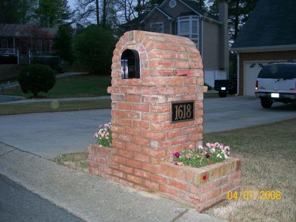 Brick Mailbox Designs with Planters