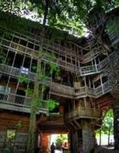 The world   largest tree house minister in crossville tennessee measures over also treehouse houses pinterest and rh