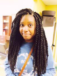 jumbo short kinky twist hairstyles   Large size Senegalese ...