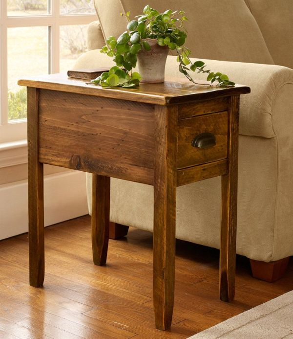Rustic Wooden Side Table End Tables Free Shipping L