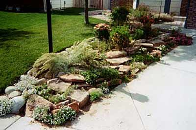 End Of Driveway Landscaping Ideas Natural Rock Garden Terracing