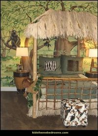 safari jungle hut decorating theme bedrooms jungle theme ...