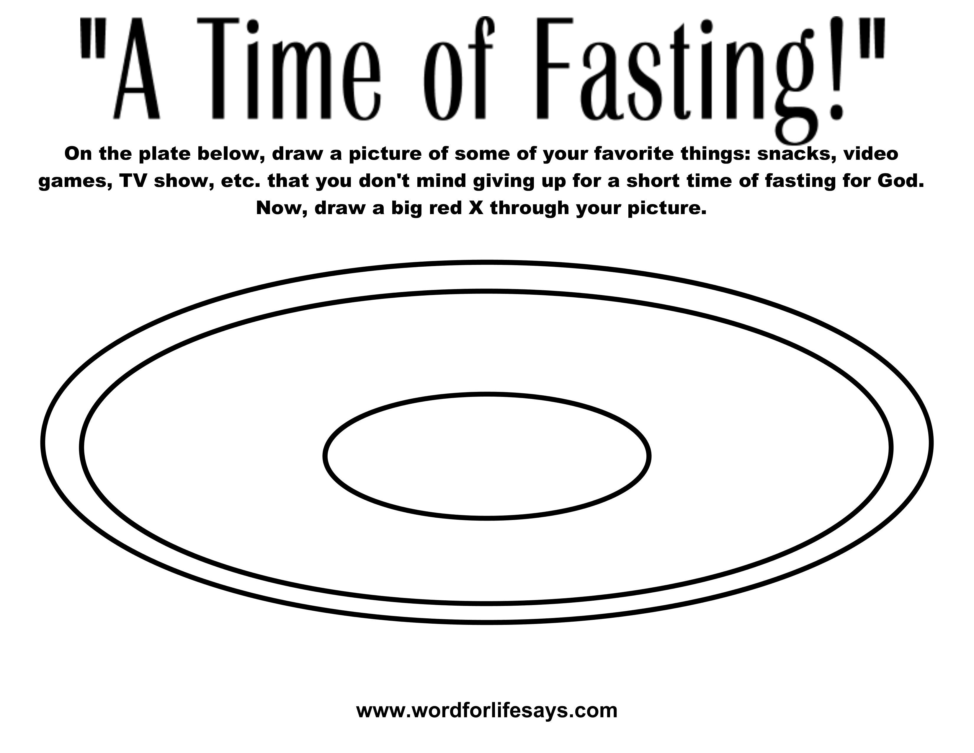 Lds Coloring Pages Fasting