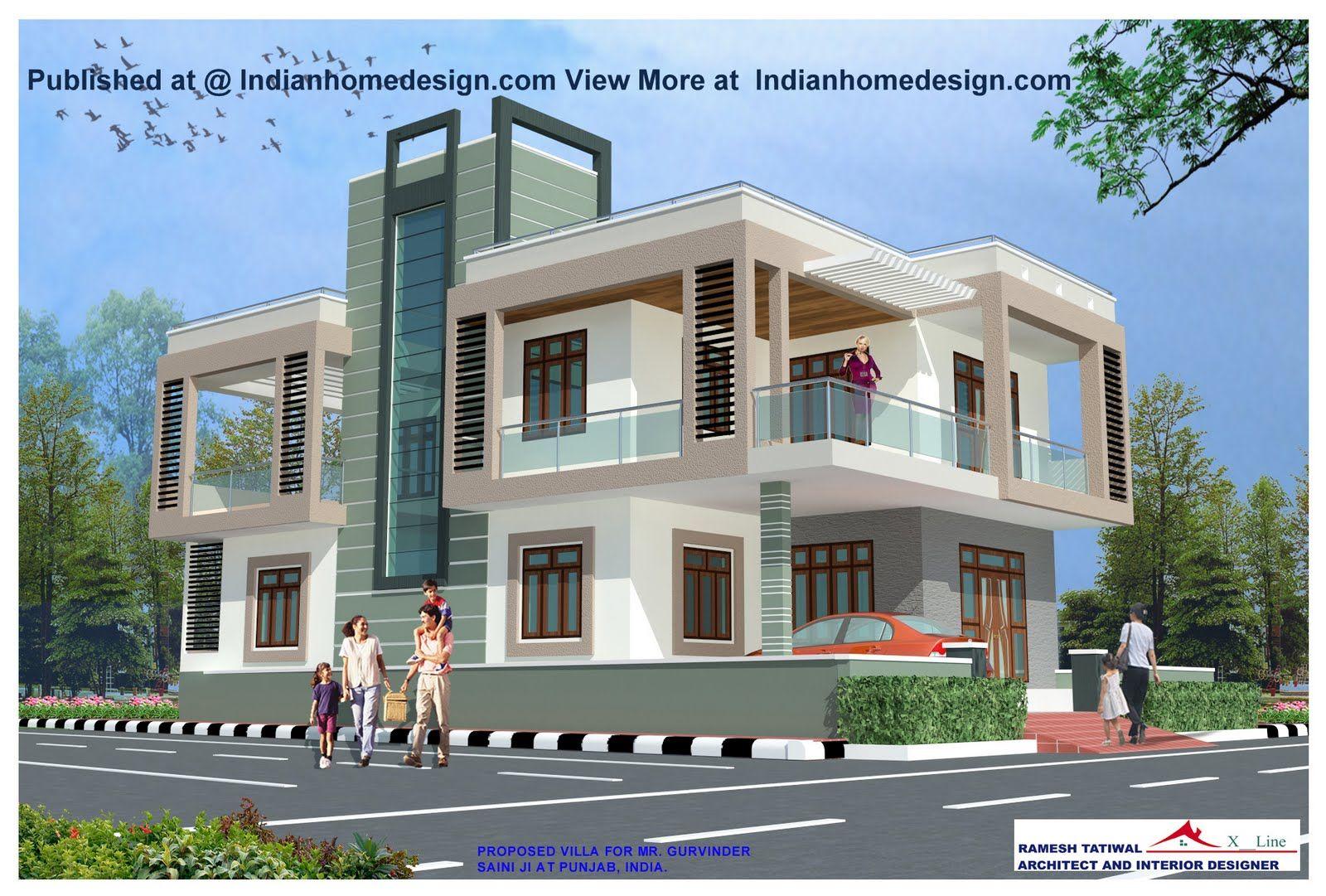 Modern Exteriors Villas Design Rajasthan Style Home Exterior