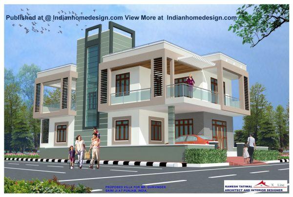 modern exteriors Villas design rajasthan style home