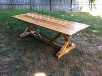 FANCY X FARMHOUSE TABLE made out of cedar | DIY Furniture ...