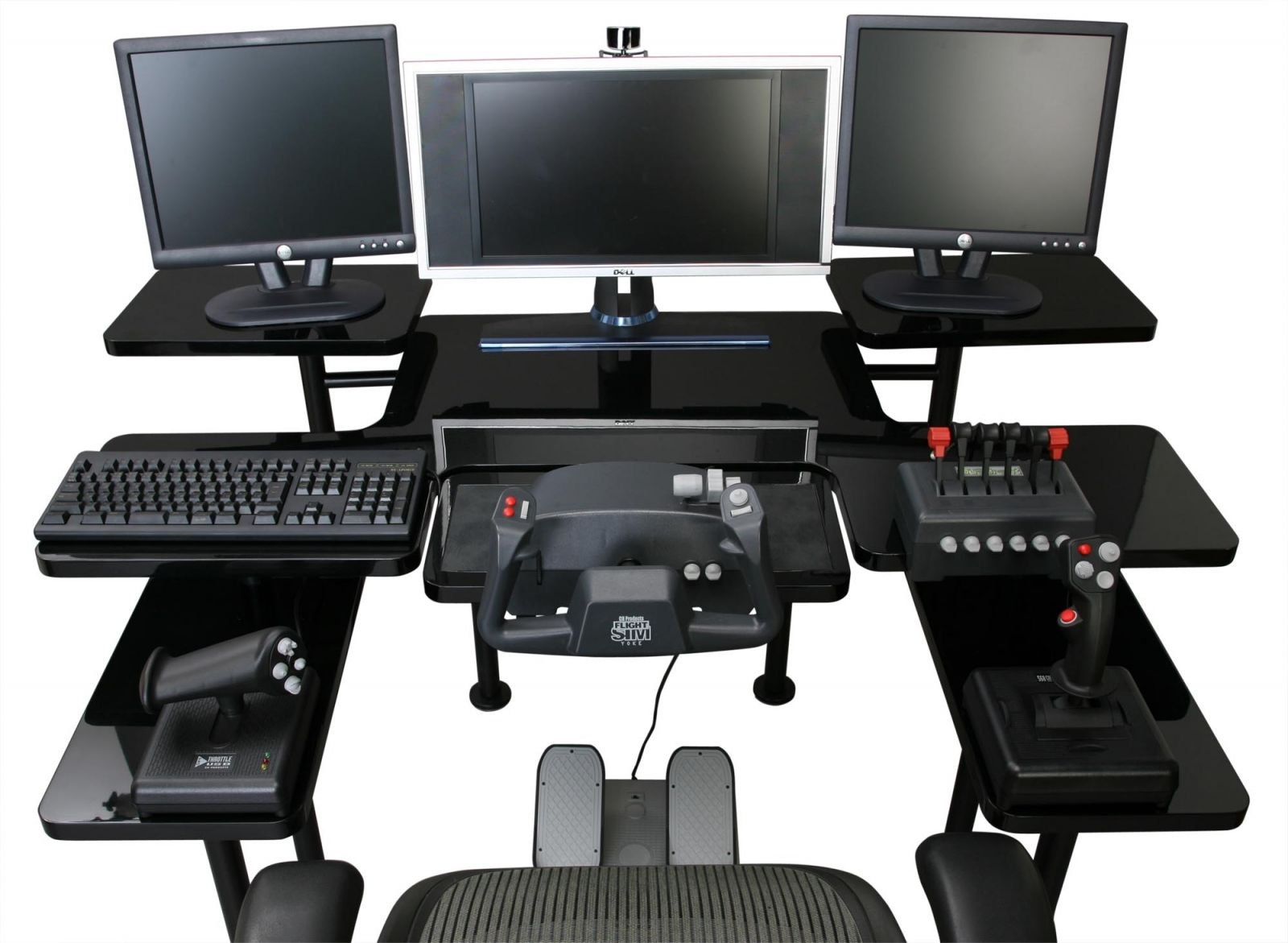 Best Custom Gaming Desk Setup With Multiple Monitors In Black  Witt Computer Room  Pinterest