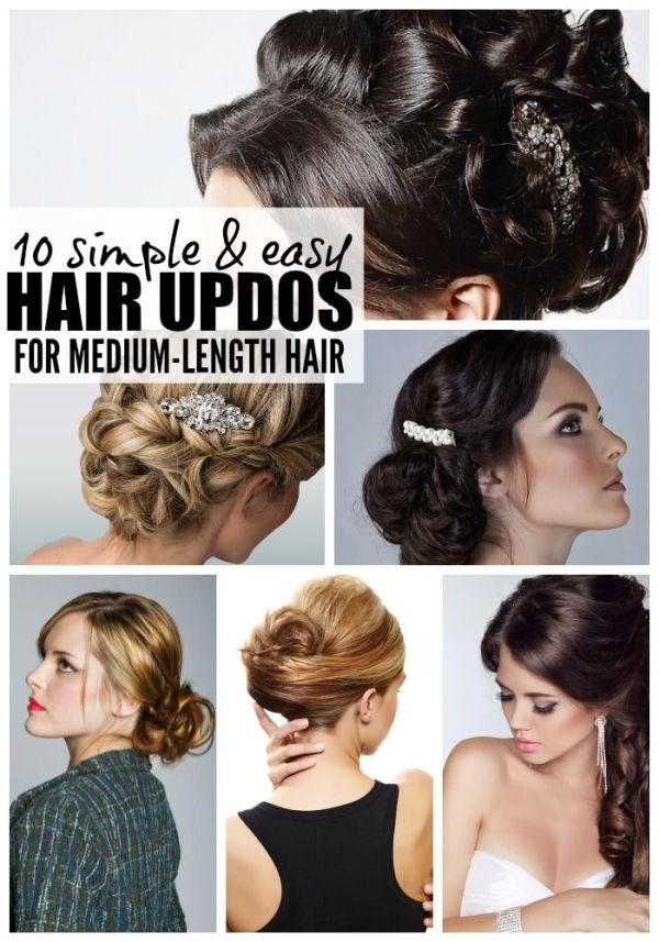Easy Formal Hairstyles For Medium Length Hair Hylen Maddawards Com