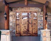 log cabin front door colors - Google Search   Cabin Door ...