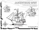 Free Printable of Jamestown presentation. Three ships the