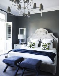 Flip flop walls and headboard-light grey paint with darker ...