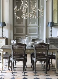 elegant gray dining room