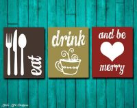 Eat Drink and Be Merry. Kitchen Decor. Dining Room Wall ...