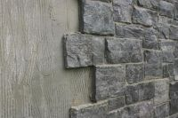 Great way to cover cinder block walls and dress them up ...