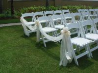 Wedding Ceremony Chair Decorations | Tulle and Ribbon Bows ...