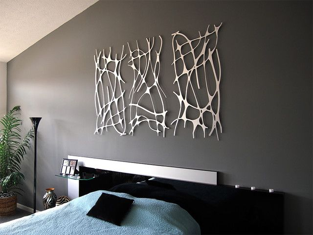 contemporary wall art | walls, contemporary and bedrooms