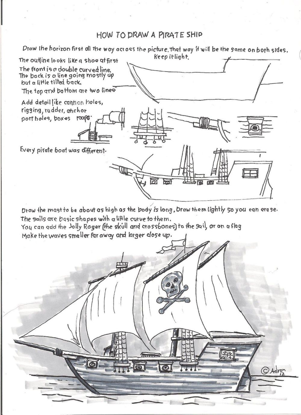 medium resolution of how to draw worksheets for young artist how to draw a pirate ship schooner ship diagram easy pirate ship diagram