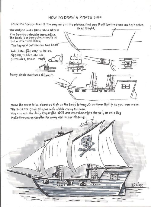 small resolution of how to draw worksheets for young artist how to draw a pirate ship schooner ship diagram easy pirate ship diagram