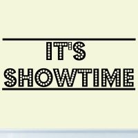It's Showtime Vinyl Wall Decal Decor Home Theater Drama ...