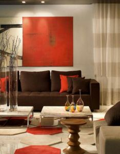 Contemporary spaces red and brown living room design pictures remodel decor ideas also deco love for the home pinterest rh