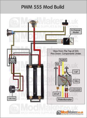 PWM 555 Wiring Diagram | BOX MOD | Pinterest | Vape
