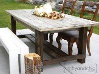 DIY outdoor farmhouse table MAKE OUT OF PALLETS OR CEDAR ...