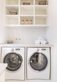 Shelves over washer dryer | Laundry Rooms & Mudrooms ...