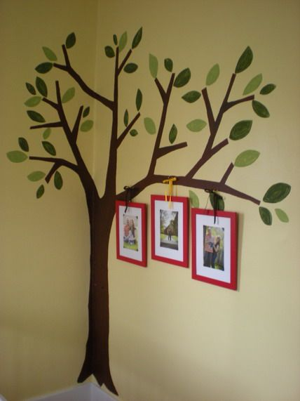 awesome tree garden wall murals paintings ideas for nursery kids bedroom decorating ideas