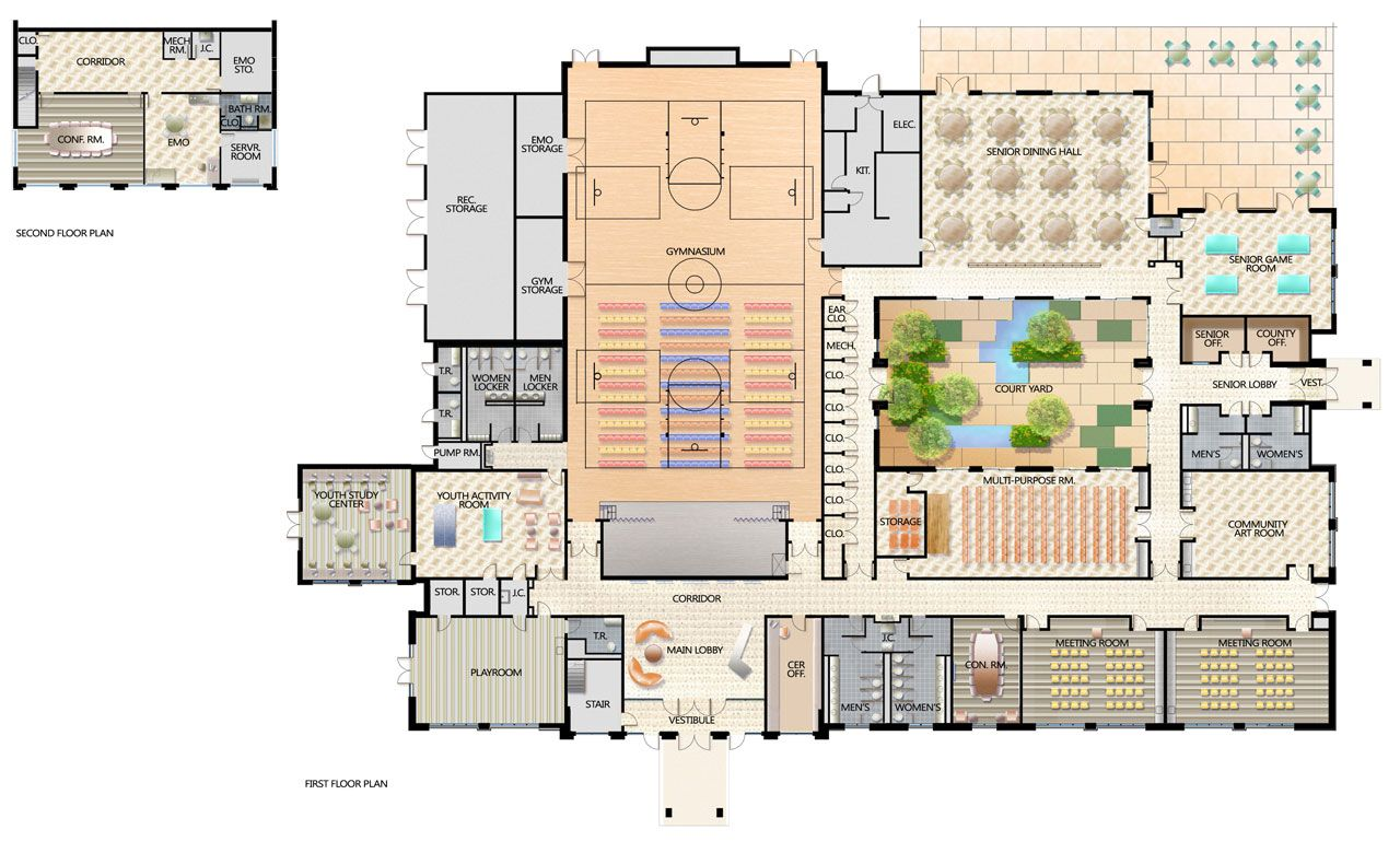 Best Kitchen Gallery: Munity Center Floor Plans Lg 05 Building Plans of Sport Gym Floor Plan on rachelxblog.com