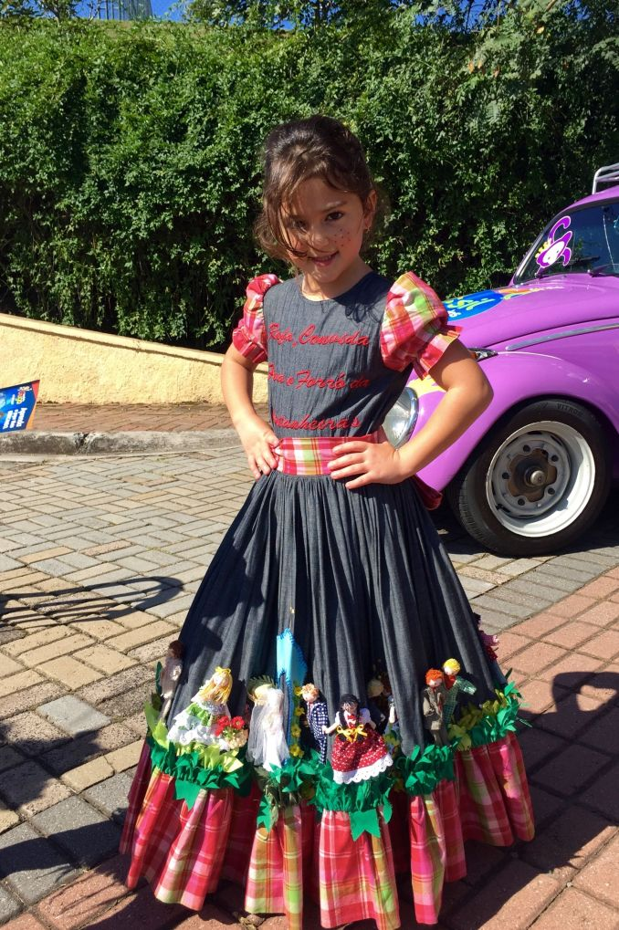 Vestido de festa junina 2020 infantil