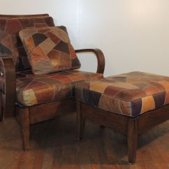 Wooden Chair Cushions Covers Adelaide With Patchwork Leather Cushion Seat And Back
