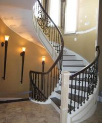 Monumental and Majestic Circular Staircase | Wrought Iron ...