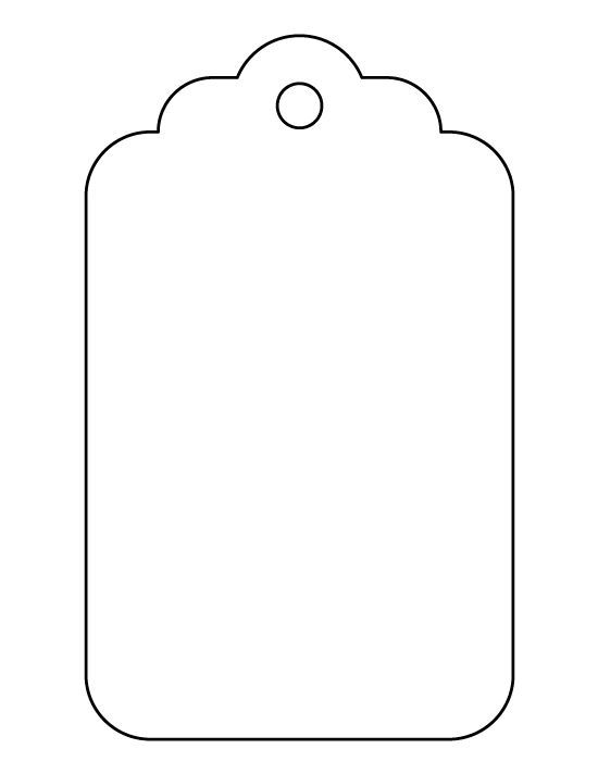 Large T Tag Pattern Use The Printable Outline For Crafts
