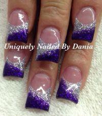 Purple and silver nail art | Nail Art | Pinterest | Silver ...