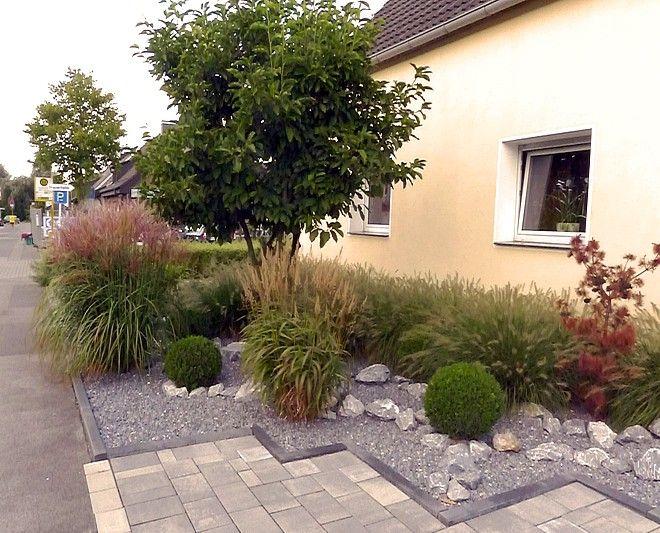 vorgartengestaltung mit grasern l | moregs, Gartenarbeit ideen