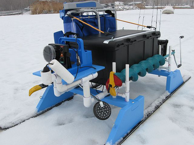 fishing chair setup white table black chairs best 25+ ice sled ideas on pinterest   rods, shanty and ...