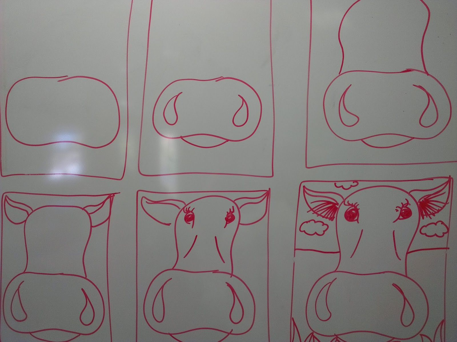 Once Upon An Art Room Close Up Cows Drawn With Pencil