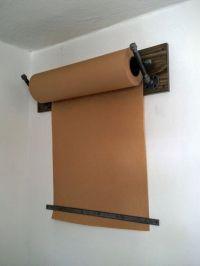 Kraft Paper Dispenser; Wall Mount; Industrial Pipe ...