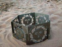 Decorative Portable Metal Fire Pit - Sun | Metal art ...