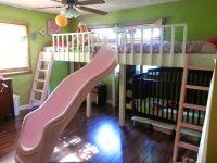 BBB: DIY Double Loft Beds With Slide Yo! | Kids Bedroom ...