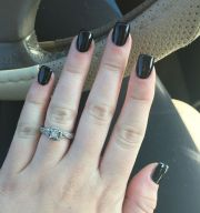 short black acrylic nails