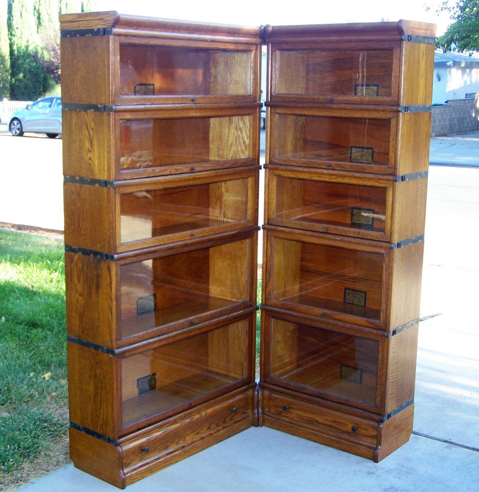bookshelf chair for sale ashley dining chairs 25 quot 3 4 size globe wernicke bookcase corner unit antique