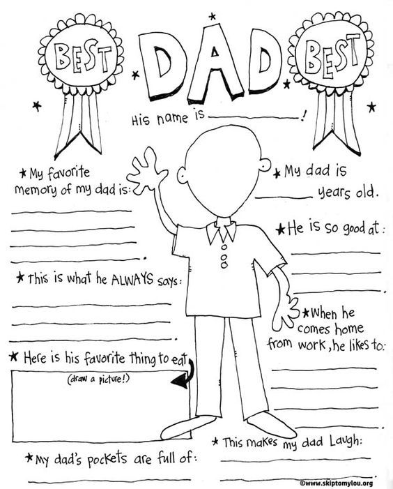 This free printable Father's Day Coloring Page is for the