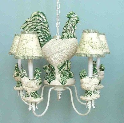 French Rooster Chandelier Ceramic Classic And Elegant