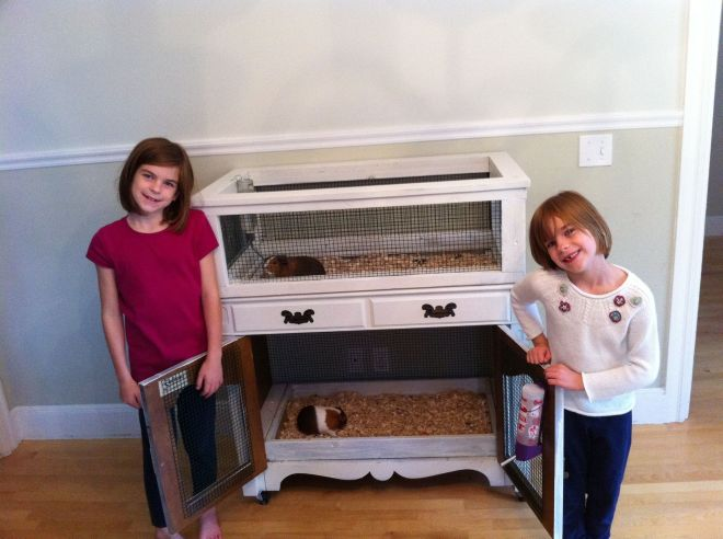 Old hutch from used furniture store a guinea pig