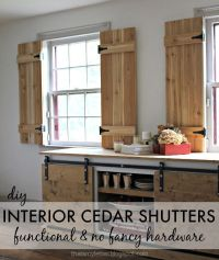 DIY Interior Cedar Shutters (Pretty Handy Girl) | Cedar ...